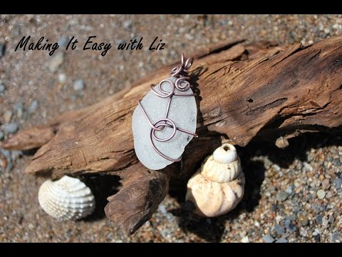DIY Fabulous Wire Wrapped Beach Glass Pendant