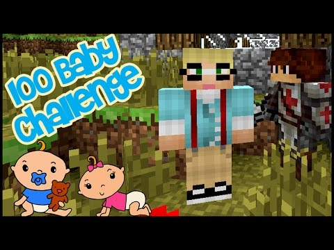 Minecraft: 100 Baby Challenge - EP 1 - BABY DADDY!