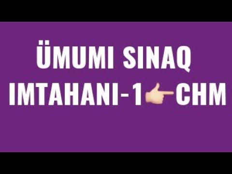 ÜMUMİ SINAQ İMTAHANI-1(ll hisse,sualların en gözeli👉16