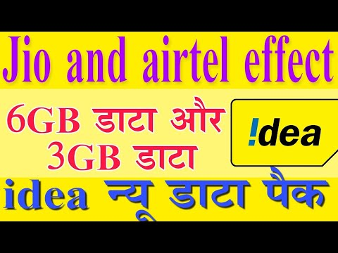 Idea new add on pack  6 GB and 3 GB data