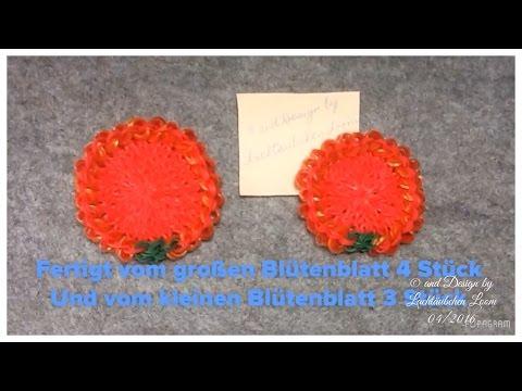1. Teil - Rainbow Loom 3D Rose mit englischen Untertiteln von Lachtaeubchen Loom