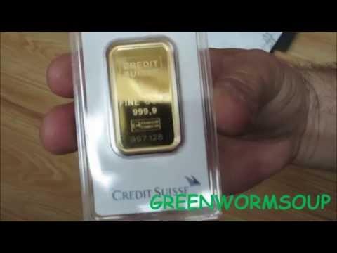 5 Ounces GOLD!!! - APMEX Order Unboxing - Credit Suisse Gold Bars