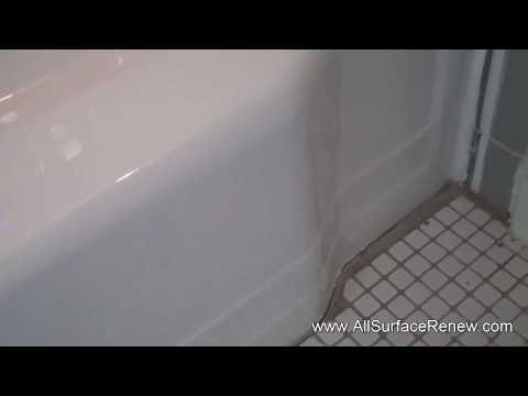Faded Hard to Clean High Quality Bathtub to A High Gloss White