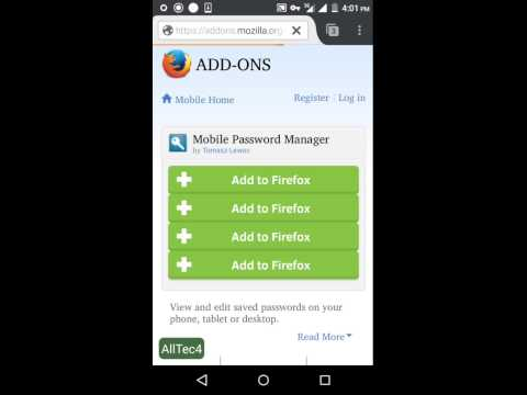 View and edit passwords on Firefox for Android
