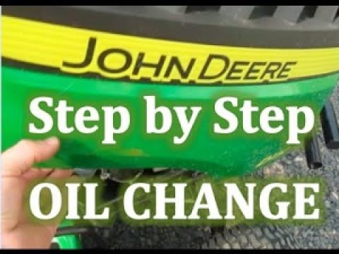 FAST! How to Change the Oil in a John Deere L110 in 10 Minutes!