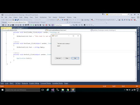 C# Tutorial : Form Load and Button click Event | FoxLearn