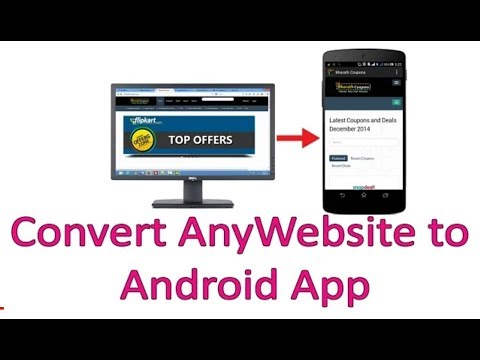 how to make android app of any website