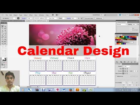 How To Create Calendar Design in illustrator CS5 [2016]