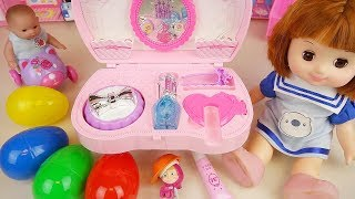 Baby doll beauty sticker box and surprise eggs toys baby Doli play