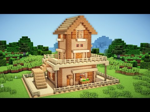 Minecraft: Starter House Tutorial 2 - How to Build a House in Minecraft / Easy /