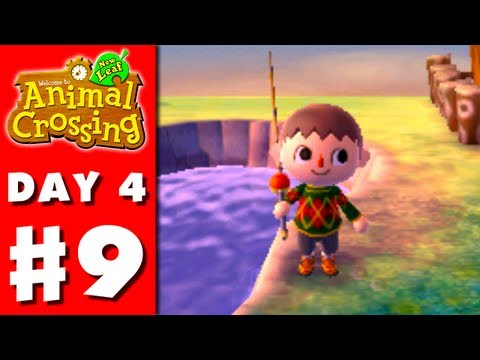 Animal Crossing: New Leaf - Part 9 - Fishing! (Nintendo 3DS Gameplay Walkthrough Day 4)