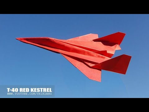 BEST PAPER AIRPLANE - How to make a Paper Jet Fighter that FLIES | RED KESTREL