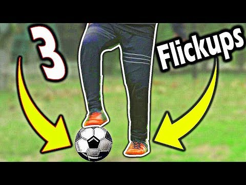 How to become a football freestyler : 3 flickups #1 : cool soccer skills (HINDI).