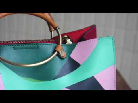 Hand Painted Leather Bags - Close up