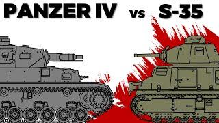 Panzer IV vs. S-35 Somua - Comparison in 1940