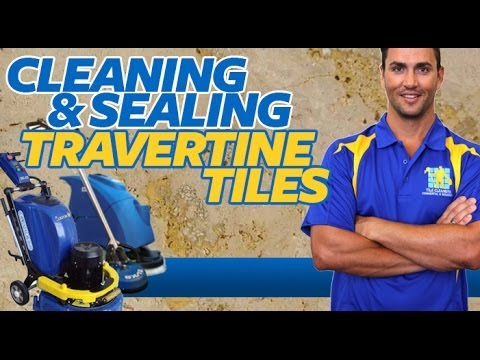Travertine Tiles Cleaning & Sealing