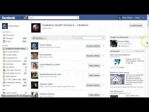Admin of a Facebook group