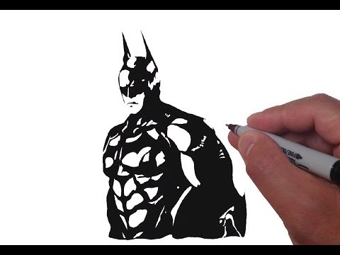 How to Draw Batman in Black White