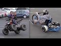 RIDING KIDS ATV ON 2 WHEELS + DRIFT TRIKE SHENANIGANS