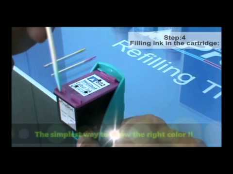 How to refill HP 22/57 inkjet cartridge (English Version)