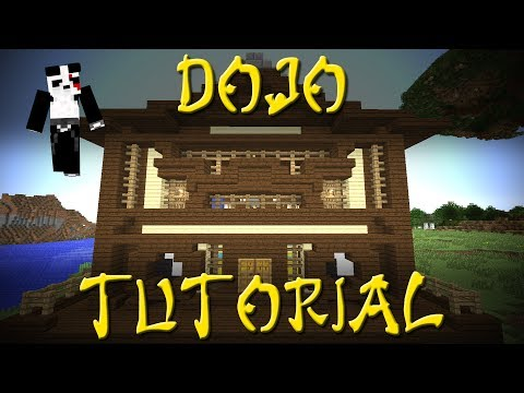 Minecraft - How to Build a Japanese Dojo - Tutorial #47