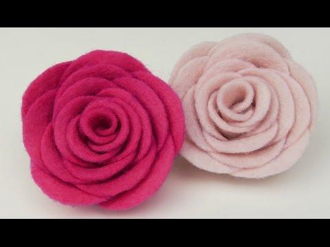 How to make Felt roses I Easy felt flower