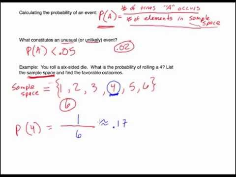Probability: Introduction and Examples with Sample Space