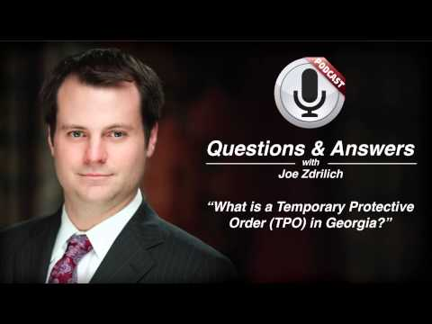 What is a Temporary Protective Order TPO in Georgia?