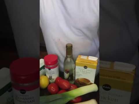 Parmesan, tomato and leek side dish