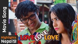 Timi Aghi Aghi - New Nepali Movie LOVE LOVE LOVE Song 2017/2073 Ft. Suraj Pandey, Swastimaa Khadka