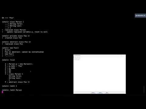 JShell Basics 14 - Using edit