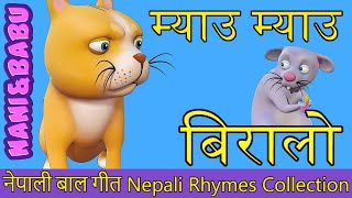 Meow Meow Biralo - Myau Myau Biralo   Nepali Rhymes Collection   लोक प्रिय नेपाली बाल गीत