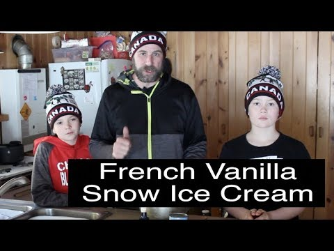 French Vanilla Ice Cream Snow Tutorial – Making quality Ice Cream with 2 Ingredients