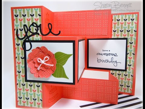 Stampin Up - Trifold Shutter Birthday Card