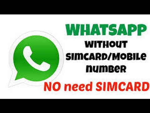 how to make whatsapp account without number    how to make whatsapp work without phone number
