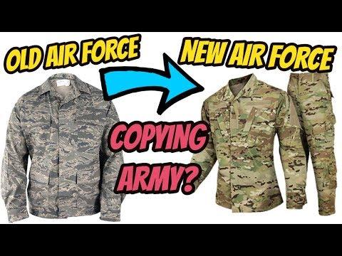 NEW AIR FORCE UNIFORM! Air Force ABU to OCP 2018 Same as US ARMY!?!