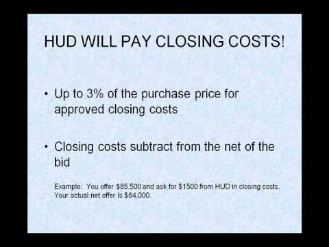 Buying a HUD Home