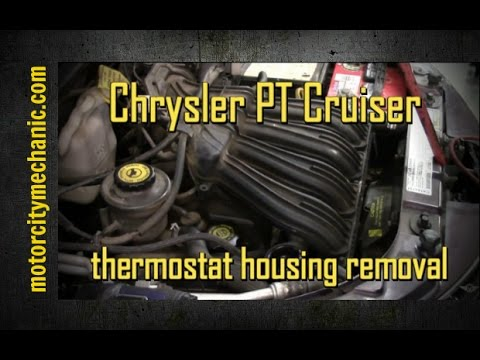 Chrysler PT Cruiser 2.4 upper thermostat housing removal and replacement