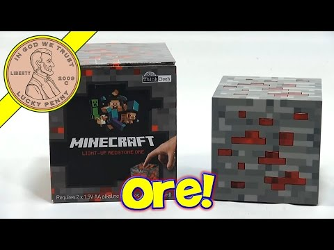 Minecraft Light Up Redstone Ore & Creeper Drinking Mug