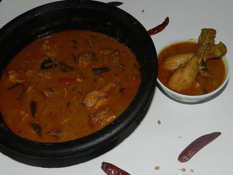 നാടൻ മസാല അരച്ച കോഴി കറി |Thani naadan chicken curry | How to make kerala old style chicken curry
