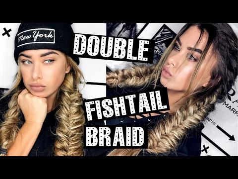 Double Fishtail braids - Hair tutorial
