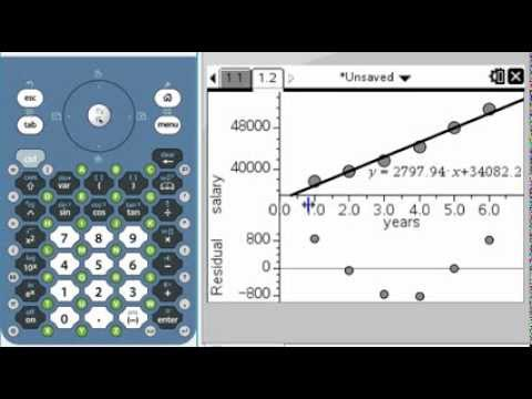 Using the TI-Nspire to graph Scatter Plots and Residual Plots