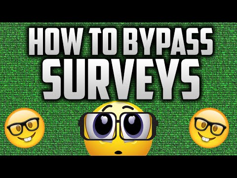 HOW TO BYPASS SURVEYS (Working 2016)