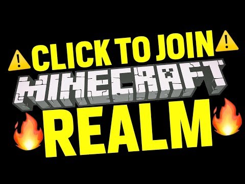 LIVE: CLICK THIS TO JOIN MY FAN REALM BOI!!! (Minecraft Realms)