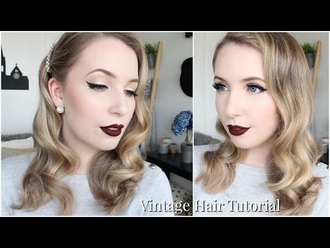 Old Hollywood Glam Vintage Waves | Easy Hair Tutorial