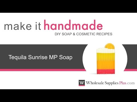How to Make Tequila Sunrise MP Soap {Make It Handmade}