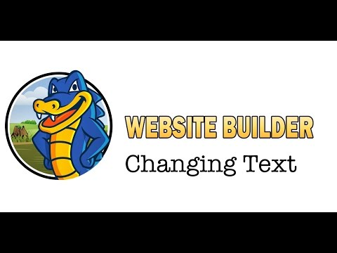 Editing Text with HostGator's Website Builder