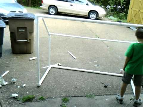 Home Made Soccer Goal from PVC