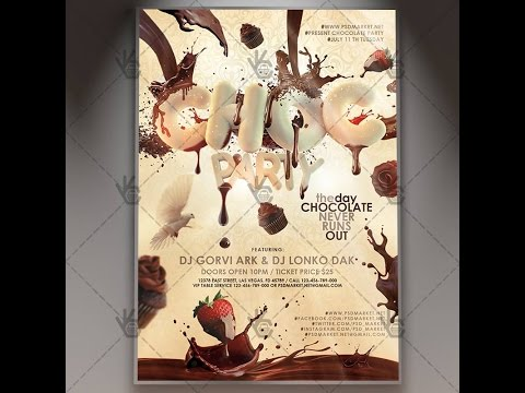 Chocolate Party - Premium Flyer PSD Template