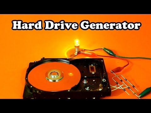 Hard Drive Disk Motor as Electric Generator